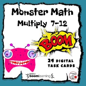 DIGITAL ... Monster Math Multiply ... 7-12 ... BOOM™ Internet Task Cards