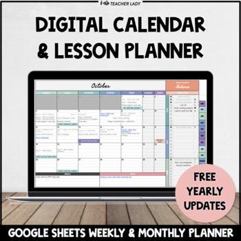 Digital Monthly Calendar Templates | Google Sheets Planner & To-Do Lists