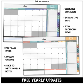 Digital Monthly Planner Templates | Google Sheets Calendar & To-Do Lists
