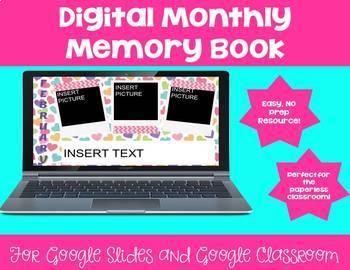 Digital Monthly Memory Book