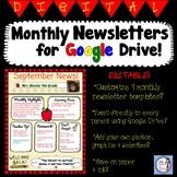 Digital Monthly Newsletter Set for Google Drive!