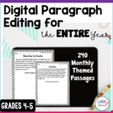 Digital Monthly Paragraph Editing for the Entire Year, Grades 4-5