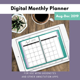 Digital Monthly Planner for GoodNotes 2018-2019