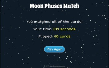 Digital Moon Phases Memory Game