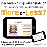 Digital ⋅ More or Less ⋅ Interactive PDF, Boom Cards, and
