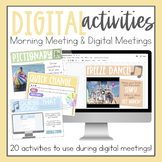 Digital Morning Meeting Activities  l  Distance Learning