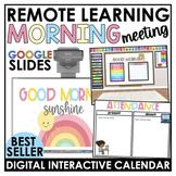 Digital Morning Meeting Circle Time + Virtual Calendar Interactive Google Slides