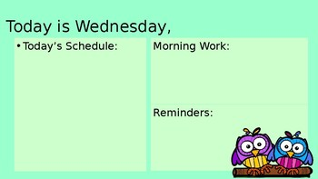 Digital Morning Meeting Daily Schedule and Morning Work Template