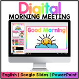 Digital Morning Meeting - Interactive PowerPoint   Google Slides™