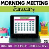 Digital Morning Meeting | January | Distance Learning
