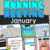 Complete Morning Meeting January National Holiday, Share, Read Aloud & Games