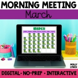 Digital Morning Meeting | March | Distance Learning