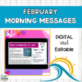 Digital Morning Meeting Messages for February