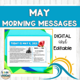 Digital Morning Meeting Messages for May