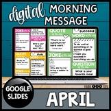 Morning Meeting Slides | April | Morning Message 2/3rd Grade