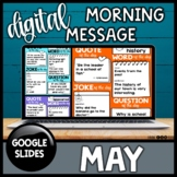 Digital Morning Meeting Slides | May | Distance Learning A