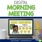 Digital Morning Meetings 1st Grade for the Entire Year | D