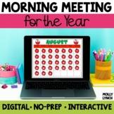 Digital Morning Meeting Activities: Digital Calendar, Math