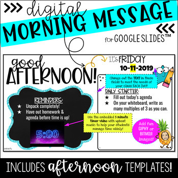 Digital Morning Message (Google SLIDES)