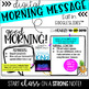 Digital Morning Message (Google SLIDES)