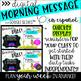 Digital Morning Message (Google SLIDES) - SPANISH