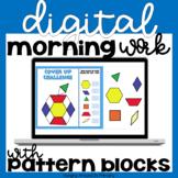 Digital Morning Work | Digital Math Centers with Pattern B