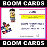 Digital Morning Work for Students with Autism (June) - Dis