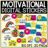 Digital Motivational Stickers | Rainbow and Flower Incentives