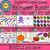 Digital Moveable Clip Art Halloween Bundle