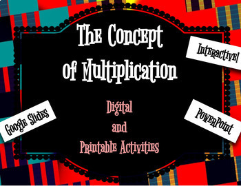 Digital Moveable Concept of Multiplication Activities - Math Google Slides