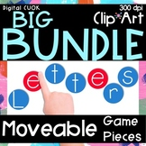 Digital Moveable Game Pieces Alphabet Bundle - Extended License Included