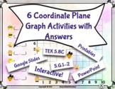 Digital Moveable Math Coordinate Plane Graph Google Slide
