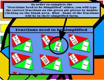 Digital Moveable Math Pie Fraction Sort Activity Google Slide PowerPoint
