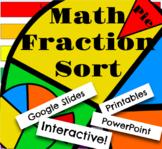 Digital Moveable Math Pie Fraction Sort Activity Google Sl