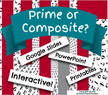 Digital Moveable Math Prime or Composite Number Activity Google Slide PowerPoint