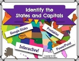 Digital Moveable and Printable 50 State and Capital Activities Google Slides