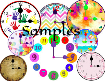 Digital Moveable and Printable Clocks for Telling Time - Math Google Slides