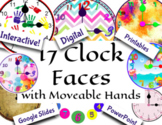 Digital Moveable and Printable Clocks for Telling Time - M