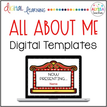 Digital All-About-Me Templates (Movie-Themed)