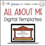 All About Me Digital Templates (Movie-Themed)