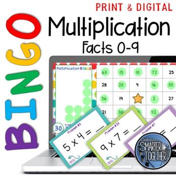 Multiplication Facts Bingo Digital Distance Learning