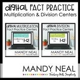 Digital Multiplication & Division Fact Fluency Centers | D