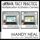 Digital Multiplication & Division Fact Fluency Centers | D