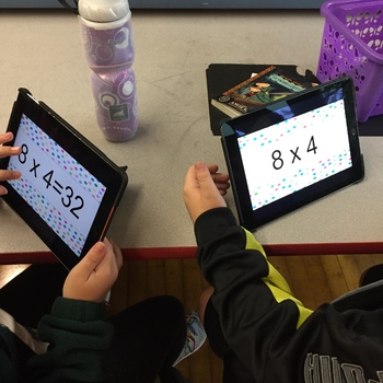 Multiplication Fact Card Decks! Digital