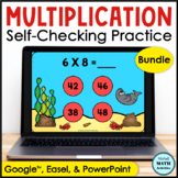 Digital Multiplication Fact Fluency Practice BUNDLE | Dist