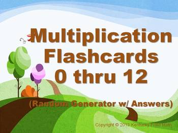 Digital Multiplication Flashcards (0-12) on PowerPoint 16 Different Sets