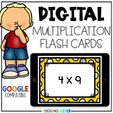 Digital Multiplication Flash Cards for Distance Learning