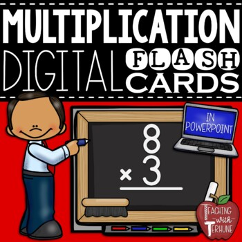 Digital Multiplication Flashcards in PowerPoint {Facts 0x0 through 12x12}