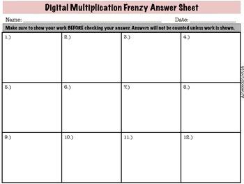 Digital Multiplication Frenzy