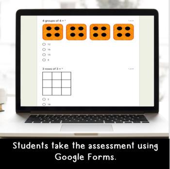 Digital Multiplication SELF-GRADING Assessments for Google Classroom
